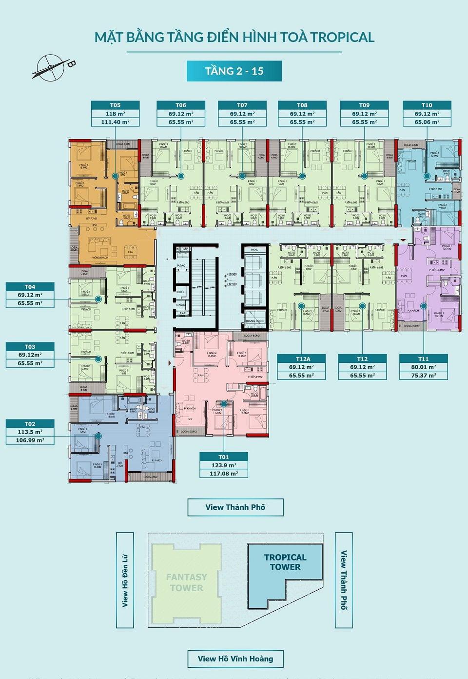 Mặt bằng tầng chung cư Feliz Homes