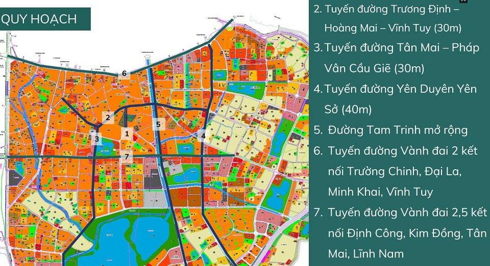 Quy hoạch các tuyến đường kết nối chung cư Feliz Homes