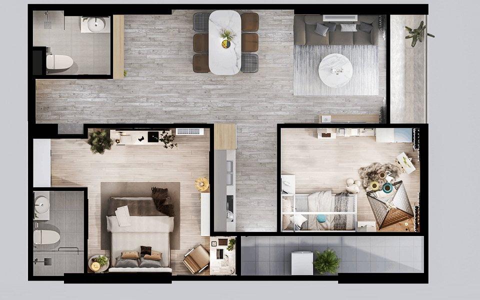 Thiết kế nội thất chung cư Feliz Homes