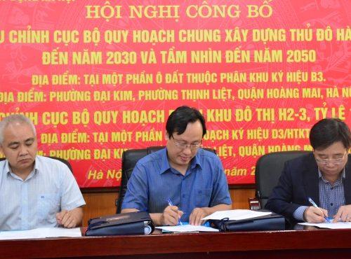 Công bố điều chỉnh quy hoạch quận Hoàng Mai