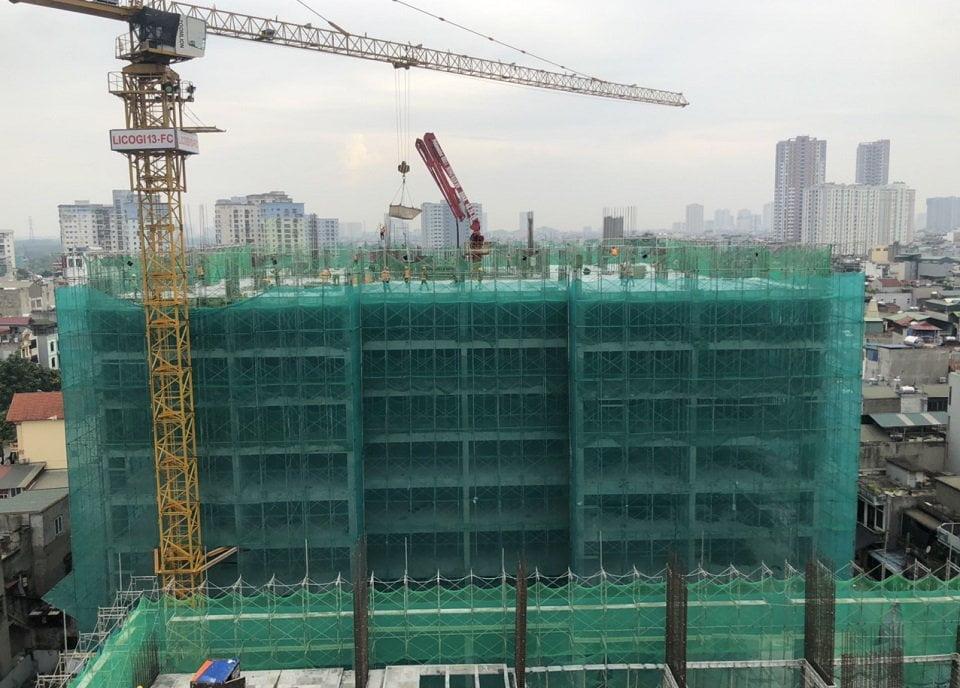 tiến độ xây dựng